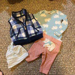 4 Piece Carters Newborn Baby Girl Set  🌸